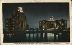 Edgewater Beach Hotel at Night, 5300 Block Sheridan Road