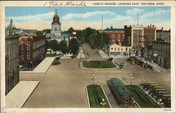 Public Square Looking East Postcard