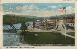 The Androscoggin River Postcard