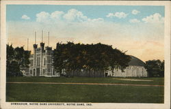 Gymnasium, Norte Dame University Postcard