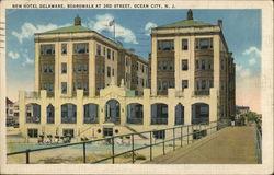 New Hotel Delaware, Boardwalk at 3rd Street Postcard