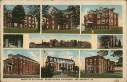 Group of Buildings, Susqeuhanna University Postcard