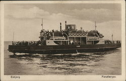 Ferry Boat Filled With Passengers