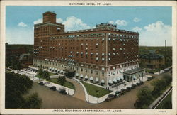 Coronado Hotel St. Louis, Lindell Boulevard at Spring Ave.