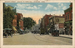 Atlantic Street, looking to Town Hall Postcard