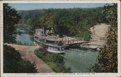 Steamboat Passing Through Sliding Bridge, Songo River