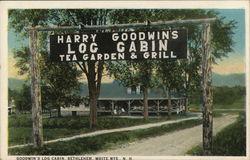 Goodwin's Log Cabin, White Mts.