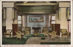 Grand Canyon Hotel, Fireplace, Yellowstone National Park