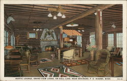 Rustic Lounge, Grand View Lodge, On Gull Lake, Near Brainerd, P. O.