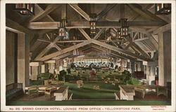Grand Canyon Hotel, Lounge from Office, Yellowstone Park