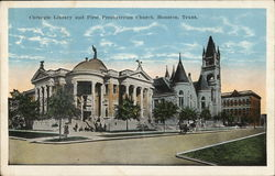 Carnegie Library and First Presbyterian Church