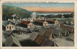 Picturesque View of Camp Smith, Hudson River in Distance Postcard