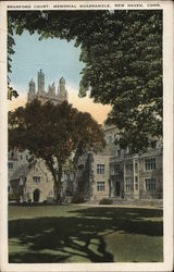 Branford Court, Memorial Quadrangle Postcard