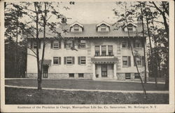 Residence of Physician in Charge, Metropolitan Life Insurance Co. Sanatorium, Mount McGregor
