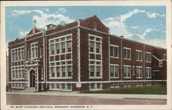 St. Mary's School and Hall, Rondout Postcard