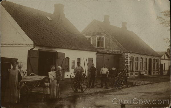 Snapshot Outside Wagon/Cart Repair Shop Tandslet Germany