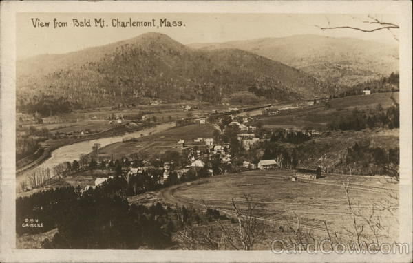 View From Bald Mountain Charlemont Massachusetts