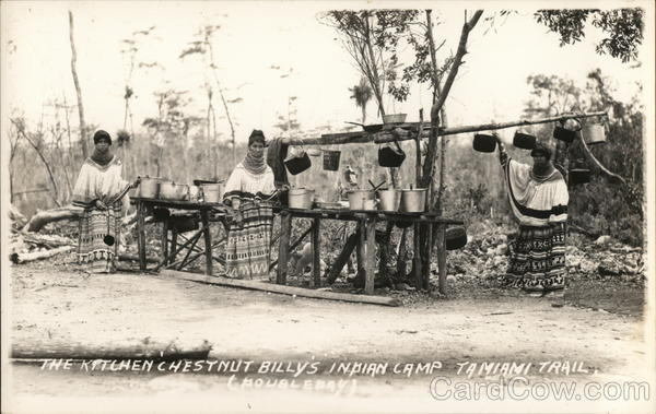 The Kitchen, Chestnut Billy's Indian Camp, Tamiami Trail Florida