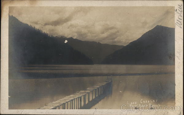 Lake Crescent from East Beach. Port Angeles Washington