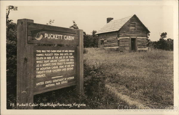 Puckett Cabin Blue Ridge Parkway Virginia