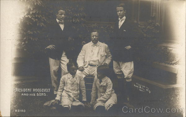 President Roosevelt and His Sons Theodore Roosevelt