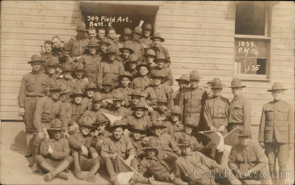 304th Field Artillery, Battillion E, Camp Upton Yaphank New York