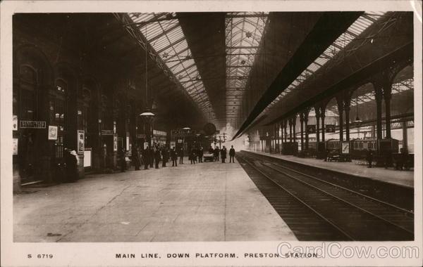 Main Line, Down Platform, Preston Station Lancashire England