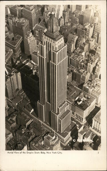 Aerial View of the Empire State Building New York City
