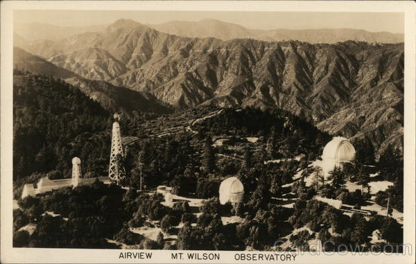 Aerial View, Mount Wilson Observatory California