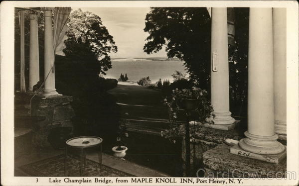 Lake Champlain Bridge, from Maple Knoll Inn Port Henry New York