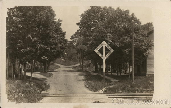 Railroad Crossing, Possibly Hyndsville or Hydeville New York
