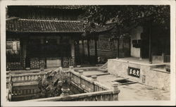 Hangchow Chinese Architecture Tiger Scratch Spring Postcard