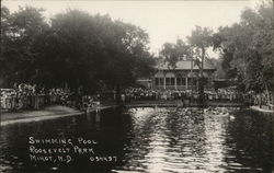 Swimming Pool, Roosevelt Park Postcard