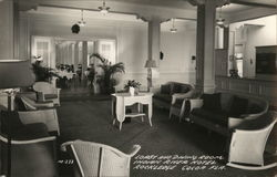 Lobby and Dining Room, Indian River Hotel Rockledge Postcard