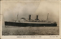 Canadaian Pacific Ship S.S. Duchess of York
