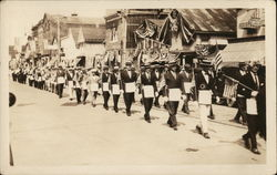 Parade of Masons wearing aprons