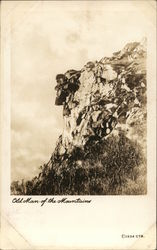 Old Man of the Mountains Postcard