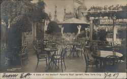 A View of the Waldorf Astoria Garden Postcard