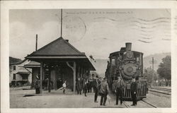 Train Waiting at Station (reprint)