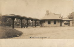 R.R. Station Bennington, VT Postcard