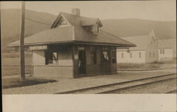 Shaftsbury RR Station Vermont Postcard