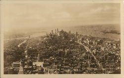 South View From the Empire State Building Postcard