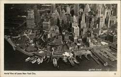 Aerial View of Lower New York City Postcard