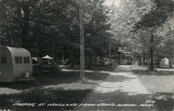 Camping at Woodland Park Postcard