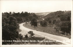 Lincoln Highway Across the Des Moines River Valley