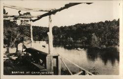 Boating at Camp Wisdom