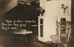 Calvin Coolidge Birthplace Postcard