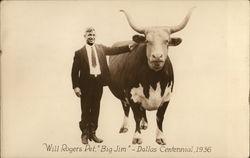 "Will Rogers Pet, ""Big Jim"" - Dallas Centennial 1936"