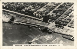 Aerial View, Waterfront and Business District Postcard