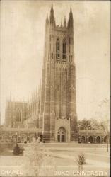 Chapel, Duke University Postcard